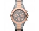 Marc by Marc Jacobs Grey Dial Two-tone Mens Watc..