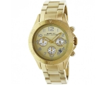Marc By Marc Jacobs Rock Champagne Dial Gold-ton..