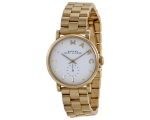 Marc by Marc Jacobs Silver Dial Gold-tone Ladies..