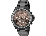 Michael Kors Chronograph Rose Dial Black Ladies ..