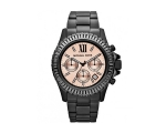 Michael Kors Everest Peach Dial Black Ion-plated..