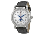 Montblanc Star Automatic White Dial Black Leathe..
