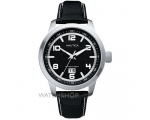 Nautica A13551G Black Dial and Black Leather Str..
