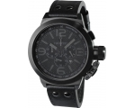 TW Steel Cool Chronograph Black Dial Black Leath..