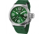 TW Steel Canteen Green Dial Green Silicone Mens ..