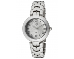 Tag Heuer Link Silver Guilloche Dial Ladies Watc..
