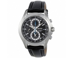 Seiko Chronograph Gents Leather Watch SNAE85P1