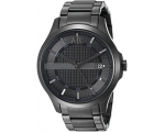Armani Exchange Hampton Black Dial Black Ion-pla..