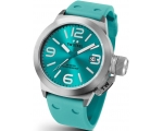 TW Steel Canteen Turquoise Dial Turquoise Silico..