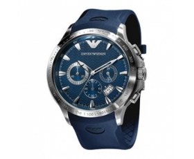 Emporio Armani AR0649 - Mens Rubber Strap Chronograph Watch