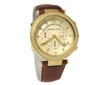 Michael Kors Chronograph Gold Dial Crystal set L..