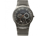 Skagen 809XLTTM Men's Titanium Watch, Dark Grey
