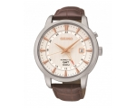 Seiko Kinetic GMT Gents Leather Watch SUN035P1