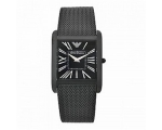 Emporio Armani Ladies AR2029 Black Steel Mesh Br..