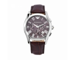Emporio Armani AR0671 - Mens Leather Strap Chron..