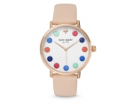 Kate Spade White Dial Beige Ladies Leather Watch..