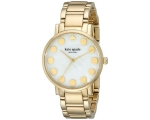 Kate Spade Women Dot Gold-Tone Bracelet Watch 34..