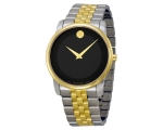 Movado Museum Black Dial Two-Tone Stainless Stee..