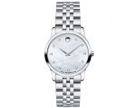 Movado Mother of Pearl Diamond Dial Ladies Watch..