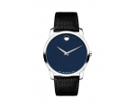 Movado Museum Blue Dial Leather Men's Watch 0607..