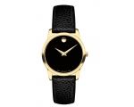 Movado Classic Black Dial Leather Ladies Watch 0..
