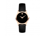 Movado Museum Black Dial Leather Ladies Watch 06..