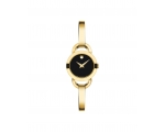 Movado Black Dial Yellow Gold PVD Ladies Watch 0..