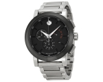Movado Mens Black Dial Swiss Quartz Chronograph ..