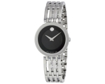 Movado Black Dial Ladies 0607051 Watch