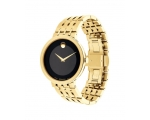 Movado Black Dial Men's Gold Tone 0607059 Watch
