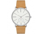 Skagen Men's SKW6215 Silver Leather Watch