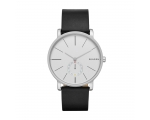 Skagen SKW6274 Men's White Dial Black Leather St..