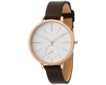 Skagen SKW2356 White Dial Brown Leather Strap Wo..