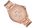 Fossil AM4483 Rose gold dial Women's Watch