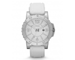 Fossil BQ1022 stainless steel white band Men's W..