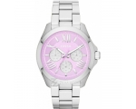 Fossil AM4555 Women's Pink Dial Stainless Steel ..