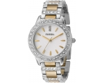 FOSSIL  ES2409 Crystal Two-tone Ladies Watch