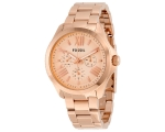 Fossil AM4511 Cecile Rose Gold-tone Dial Ladies ..