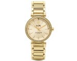 Coach 14502195 Sports Gold Dial Gold Tone Ladies..