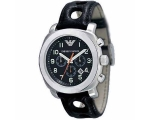 Emporio Armani AR5825 Black Leather Mens Designe..