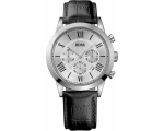 Hugo Boss 1512573 Mens Leather Strap Watch, Blac..