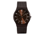 Skagen 233XLTMD - Mens Brown Dial Stainless Stee..
