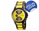 Ed Hardy EDSP-BTG Mens Speeder Yellow Two Tone B..