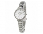 Kenneth Cole KC4649 Ladies Silver Dial Stone Set..