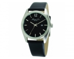 Kenneth Cole KC1596 Black Leather Strap Black Di..