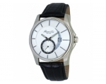 Kenneth Cole KC1599 Black Leather Strap, White D..