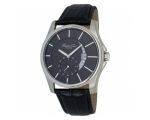 Kenneth Cole KC1600 Black Leather Strap, Black D..