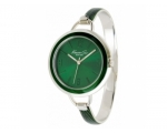 Kenneth Cole KC4685 Ladies Steel Bangle Green Ro..