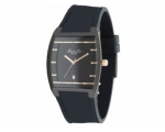 Kenneth Cole KC1620 Mens Black Silicon Strap Bla..