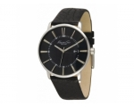 Kenneth Cole KC1606 Mens Black Leather Strap Bla..